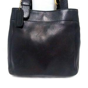 Coach Black Leather Vintage Shoulder Bag